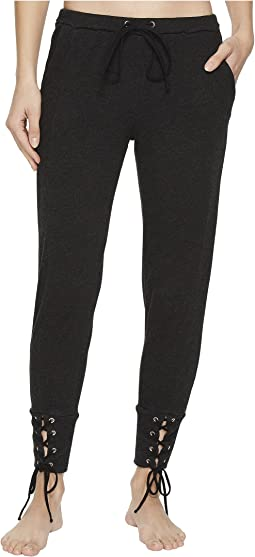 Hard Tail - Fitted Sweatpants with Lace-Up Cuff