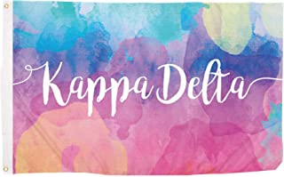 Kappa Delta Water Color Sorority Flag Greek Letter Use as a Banner Large 3 x 5 Feet Sign Decor KD