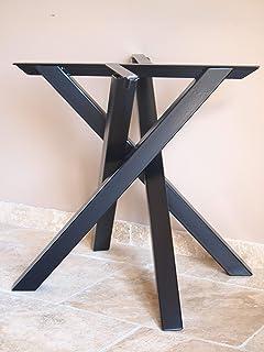 Pied de table centrale forme Mikado en métal style industriel moderne pour table ronde ou carré
