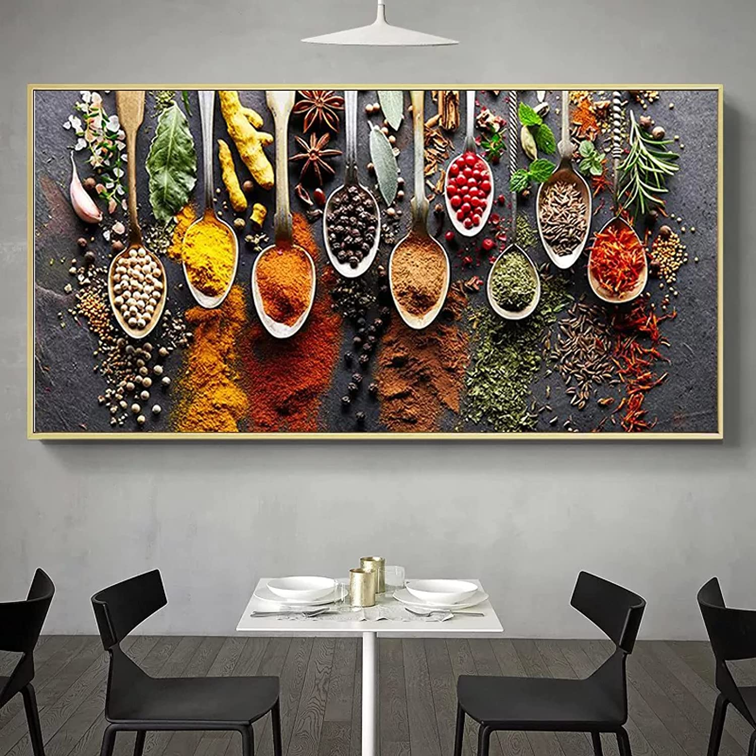 wenbo Mural Rare Decorative Paintings Spoon Ranking TOP1 Kitchen Canvas Pa Peppers