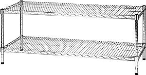 ARCHIMEDE Sistema Part Estantería 2baldas, Metal, Cromado, 121x 46x 50cm