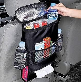 H.Yue Standard Car Seat Back Organizer,Multi-Pocket Travel Storage Bag(Heat-Preservation)