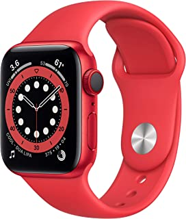 New Apple Watch Series 6 (GPS + Cellular, 40mm) - (Product) RED - Aluminum Case with (Product) RED - Sport Band