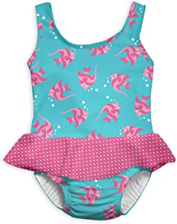e20e0e1ddb i play. Girls' 1pc Ruffle Swimsuit with Built-in Reusable Absorbent Swim  Diaper