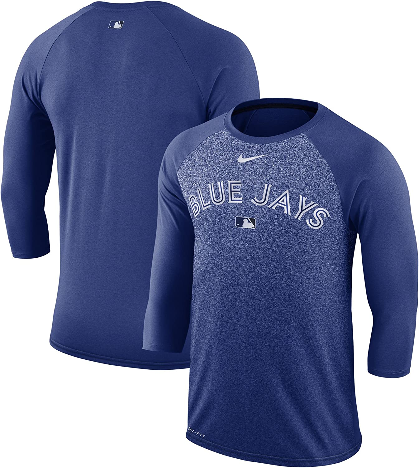 Men's Tgoldnto blueee Jays Nike Royal Authentic Collection Legend 3 4Sleeve Raglan Performance TShirt