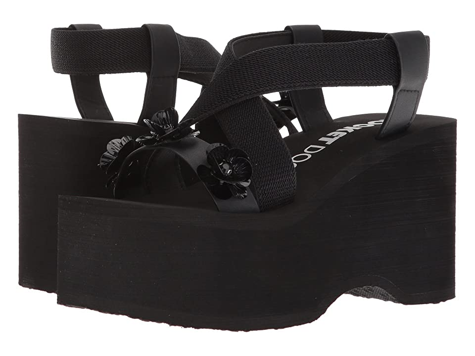 Rocket Dog Bayer Slingback Platform (Black Galatic Garden) Women