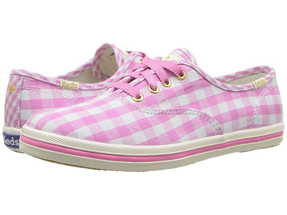 Keds x kate spade new york Kids Champion Seasonal (Little Kid/Big Kid) (Pink Gingham) Girls Shoes