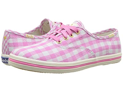 Keds x kate spade new york Kids Champion Seasonal (Little Kid/Big Kid) (Pink Gingham) Girls Shoes