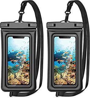 Waterproof Phone Pouch, Rumanle 2 Pack IPX8 Universal Waterproof Case Underwater Dry Bag Compatible with iPhone 12 SE2 11 ...