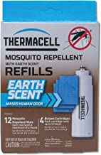 Thermacell Earth Scent Mosquito Repellent Refills; Contains 12 Scented Repellent Mats and 4 Fuel Cartridges; Delivers 48 Total Hours of Protection; For Use with Thermacell Fuel Mosquito Repellers