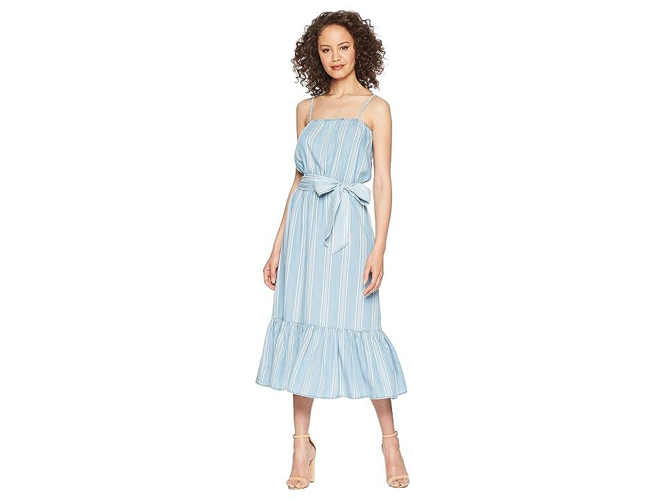 BB Dakota Tailyn Vertical Stripe Midi Dress (Chambray) Women