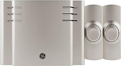 GE, Satin Nickel, Wireless Doorbell Kit, 8 Melodies, 1 Receiver, 2 Push Buttons,..