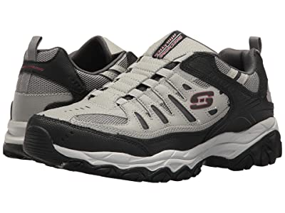 SKECHERS After Burn M. Fit (Gray/Black) Men