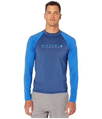 Rip Curl Shockwave Relaxed Long Sleeve UV Tee (Blue) Men