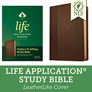 Tyndale NLT Life Application Study Bible, Third Edition (LeatherLike, Dark Brown/Brown) NLT Biblewith Updated Notes and Features, Full Text New Living Translation