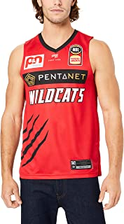 First Ever Men's Perth Wildcats V Neck Home Authentic Jersey