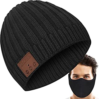 Gifts for Men Women Bluetooth Beanie Knit Hat w/Face...