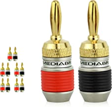 Mediabridge Banana Plugs - Corrosion-Resistant 24K Gold-Plated Connectors - 5 Pair/10 Banana Plugs (Part# SPC-BP2-5)