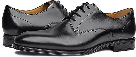 COMOTEK Men's Comfort Dress Shoes - Classic Genuine Leather Dress Shoes, Oxford