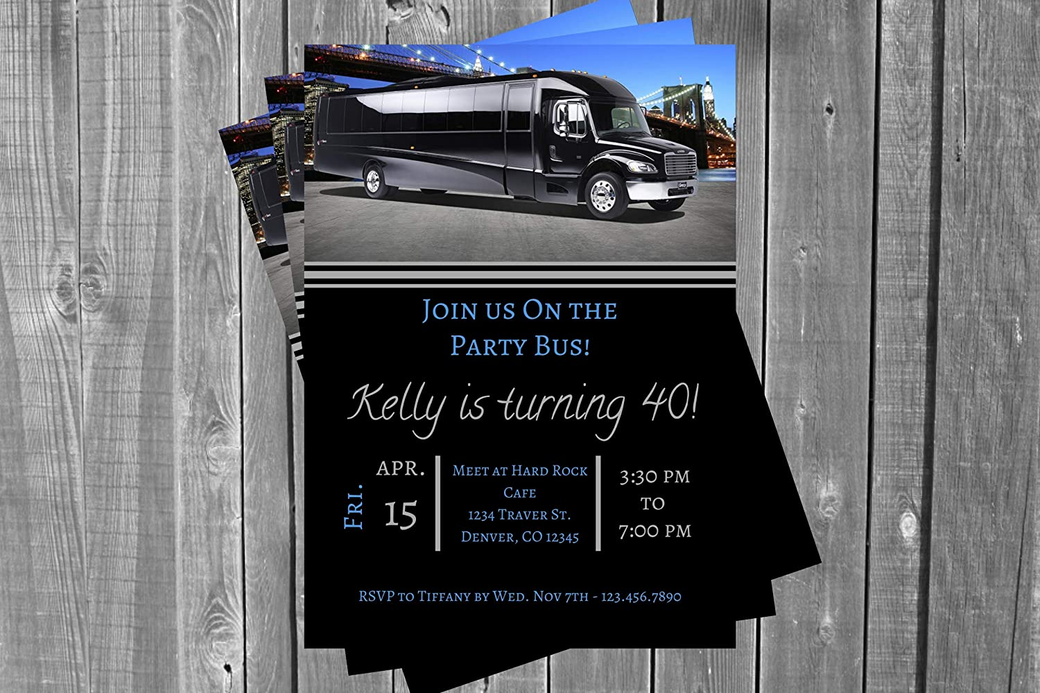 Adult Birthday Party Invitation Bus Bu Bachelor Max 60% OFF Limo Ranking integrated 1st place