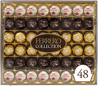 Ferrero Rocher Collection, Fine Hazelnut Milk Chocolates, 48 Count Gift Box, Assorted Coconut Candy and Chocolates