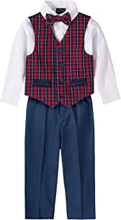 Nautica Baby Boys 4-Piece Set with Dress Shirts, Vests, Pants, and Bow Ties