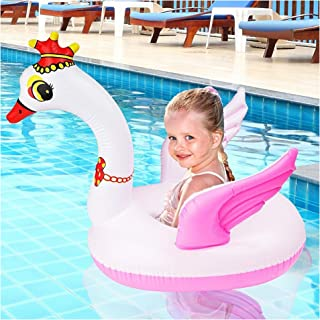 Bramble Flotador de Cisne Inflable pequeño - Estilo Cisne - Anillo Flotador Bebés Piscina Accesorio Divertido Ideal para el Agua - para bebés y niños pequeños