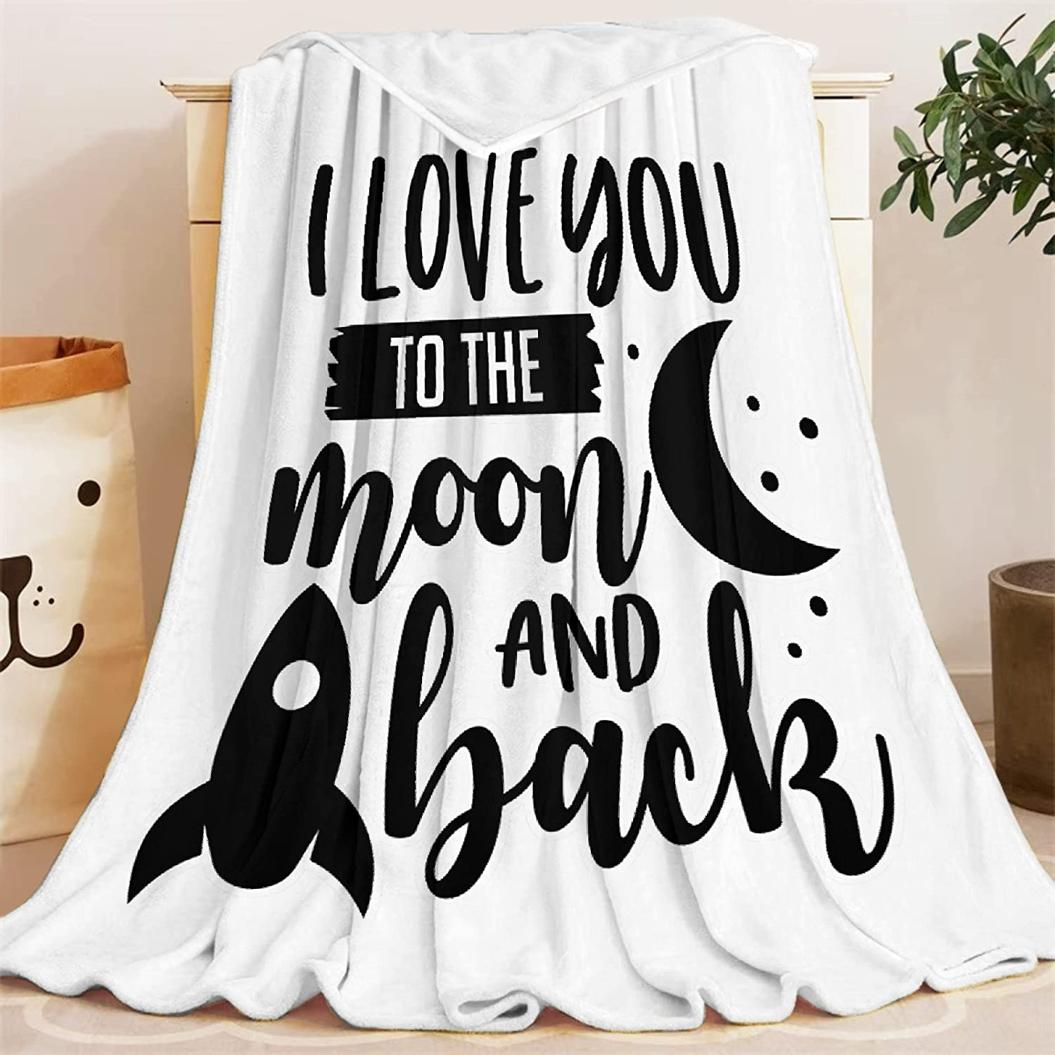 Blanket I Love You to The Fleece Popular overseas Throw Moon Lightweight Back Max 53% OFF and