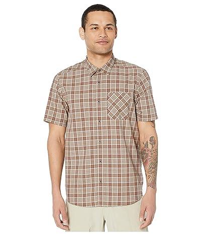 5.11 Tactical Carson Plaid Short Sleeve Shirt (Stone Plaid) Men