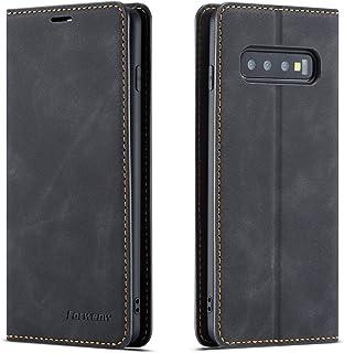 QLTYPRI Hülle für Samsung Galaxy S10E, Premium Dünne Ledertasche Handyhülle mit Kartenfach Ständer Flip Schutzhülle Kompatibel mit Samsung Galaxy S10E   Schwarz