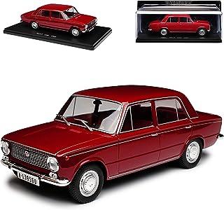 alles meine.de GmbH Seat 124 L Limousine Rot Braun 1966 1985 Baugleich mit FIAT 124L mit Sockel 1/24 Modellcarsonline Modell Auto Modellcarsonline Modell Auto