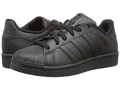adidas Originals Kids Superstar Foundation (Big Kid) (Black/Black/Black) Kids Shoes