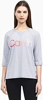 Calvin Klein Women's Performance Ombre Logo 3/4 Sleeve T-Shirt