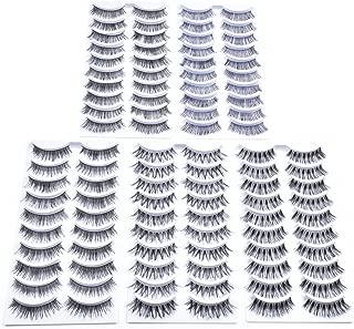 Kenzie Beauty 50 Pairs Wispies False Eyelashes Handmade Natural Lashes Pack