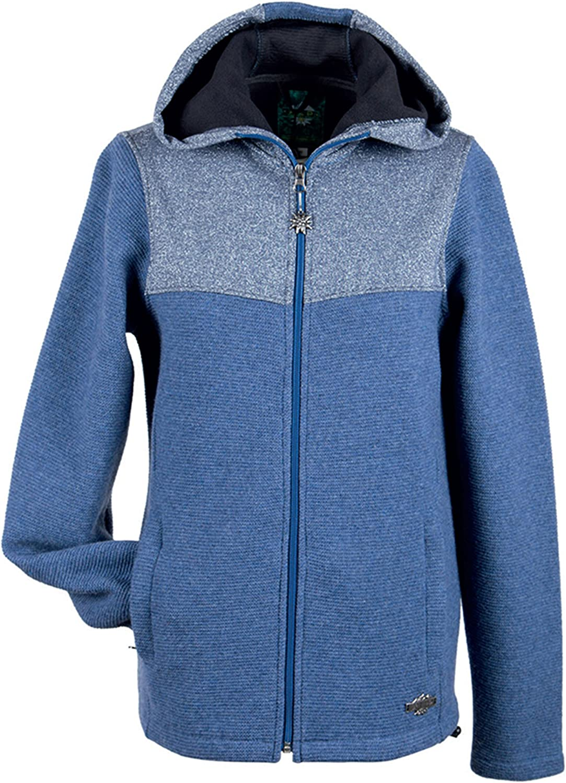 Alp by Brush Ladies LinkWindWool Jacket with Hood and Lurex Inserts