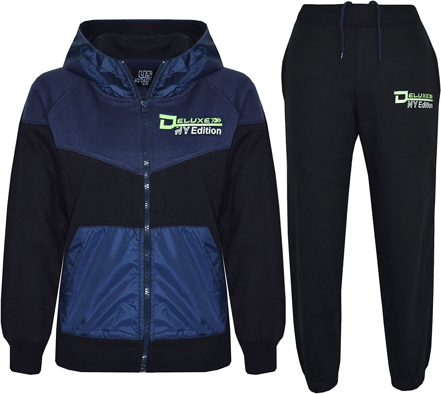 A2Z 4 Kids/® Kids Tracksuit Boys Girls NY Deluxe Edition Hoodie Bottom Jogging Suit 7-13 Yr