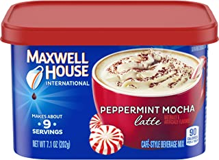 Maxwell House International Cafe Instant Peppermint Mocha Latte (7.1 oz Canisters, Pack of 4)