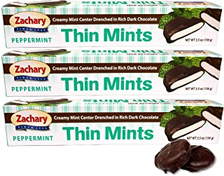 ZACHARY PEPPERMINT THIN MINTS 5.5 OZ. ( 3 PACK )