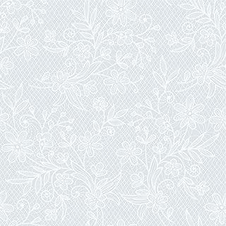 Exquisite 12 Pack Premium Plastic Tablecloth - Floral Design Printed Disposable Plastic Tablecloth (White)