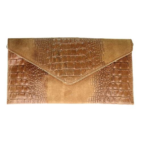 Crocodile Clutch Bags: Amazon.co.uk