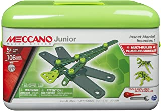 MECCANO-Erector Junior Toolbox, Insect Mania, 4 Model Building Kit