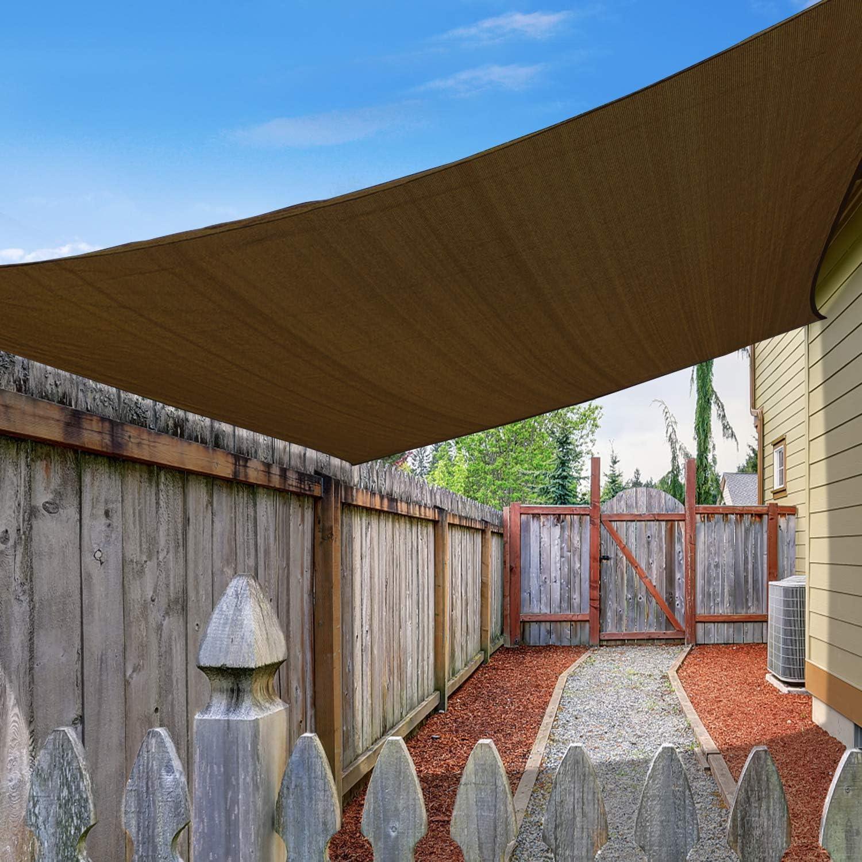 Amagenix Rectangle Sun Shade Sail 185 Shad GSM Seattle Mall Canopy Permeable 1 year warranty