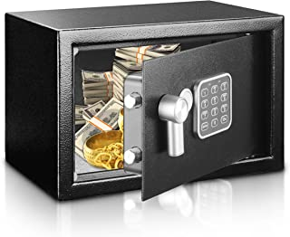 Safe and Lock Box - Safe Box, Safes And Lock Boxes, Money Box, Safety Boxes for Home, Digital Safe Box, Steel Alloy Drop Safe, Includes Keys- SereneLife SLSFE14