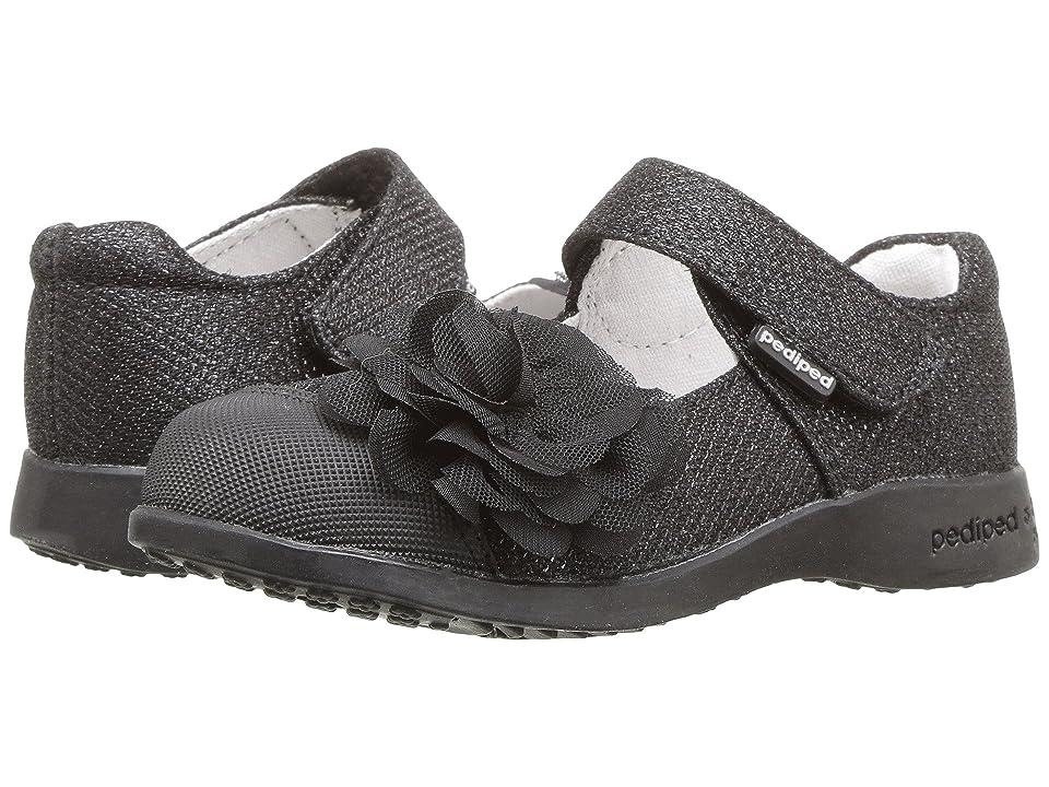 pediped Estella Flex (Toddler/Little Kid) (Black) Girls Shoes