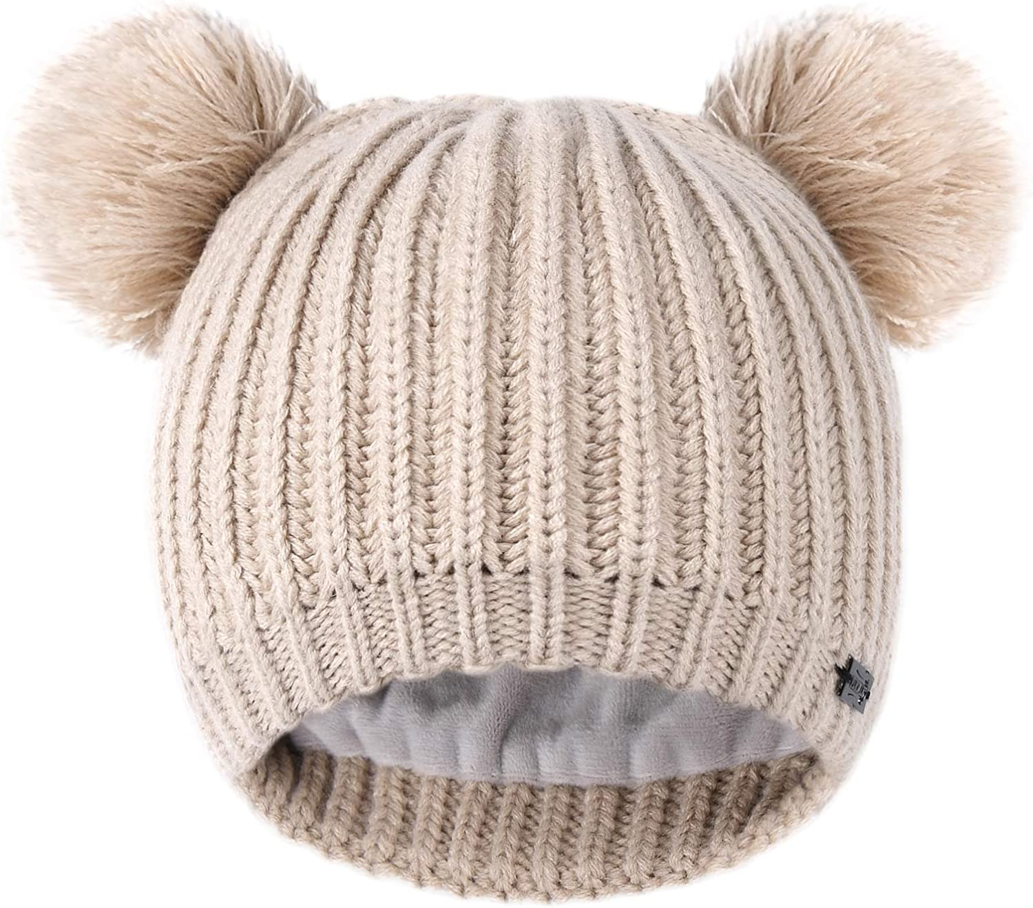 New mail order FURTALK Toddler Super sale period limited Winter Hat Pom Beanie for Fleece Knit Hats Lined