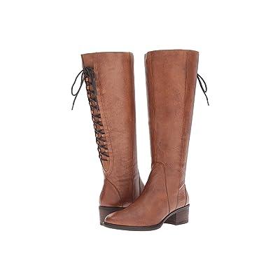 Steve Madden Laceup Wide (Cognac Leather) Women