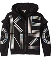 Kenzo Kids - Hooded and Ruffled Cardigan (Big Kids)