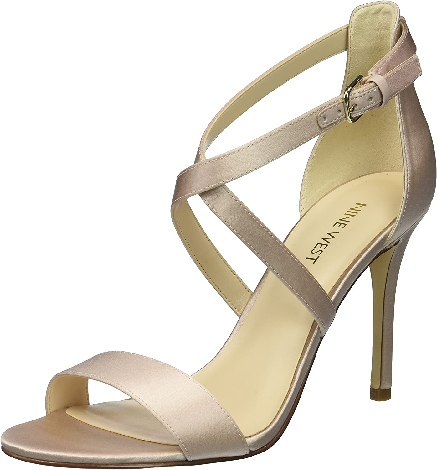 Nine West Womens Mydebut Satin Luxe Sandal