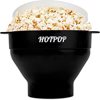 The Original Hotpop Microwave Popcorn Popper, Silicone Popcorn Maker, Collapsible Bowl Bpa Free and Dishwasher Safe - 17 C...