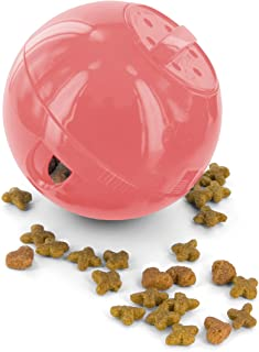 PetSafe SlimCat Food-Dispensing Cat Toy Pink, Treat Toy, Interactive Food Dispenser, Activity Snack Ball for Cats of All Ages